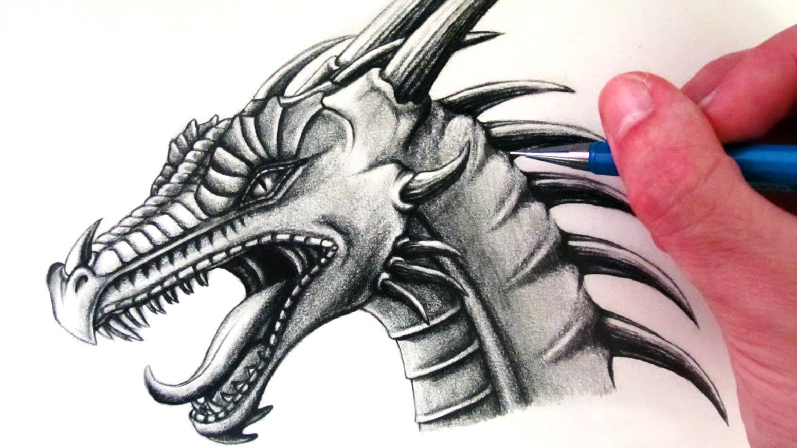How to draw a dragon easy step by step for beginners for Cool detailed drawings