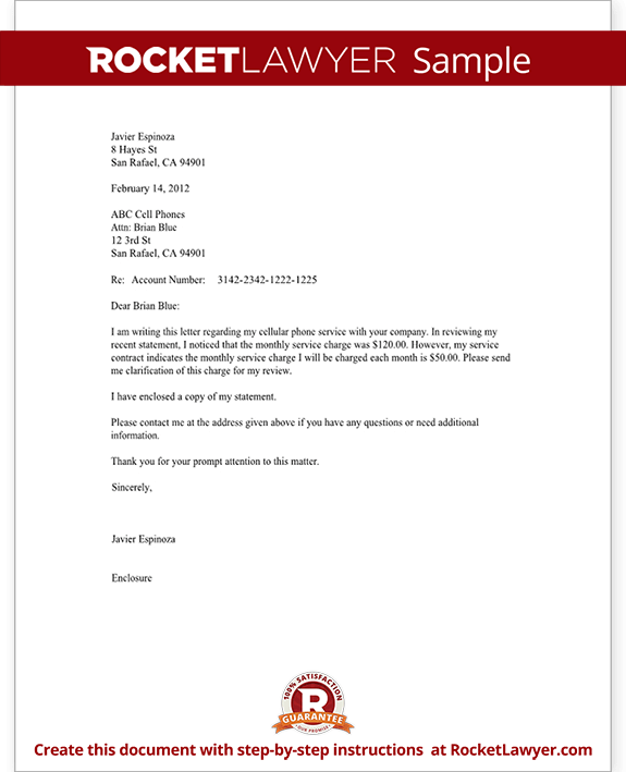 Legal Inquiry Letter – Inquiring Letter Sample