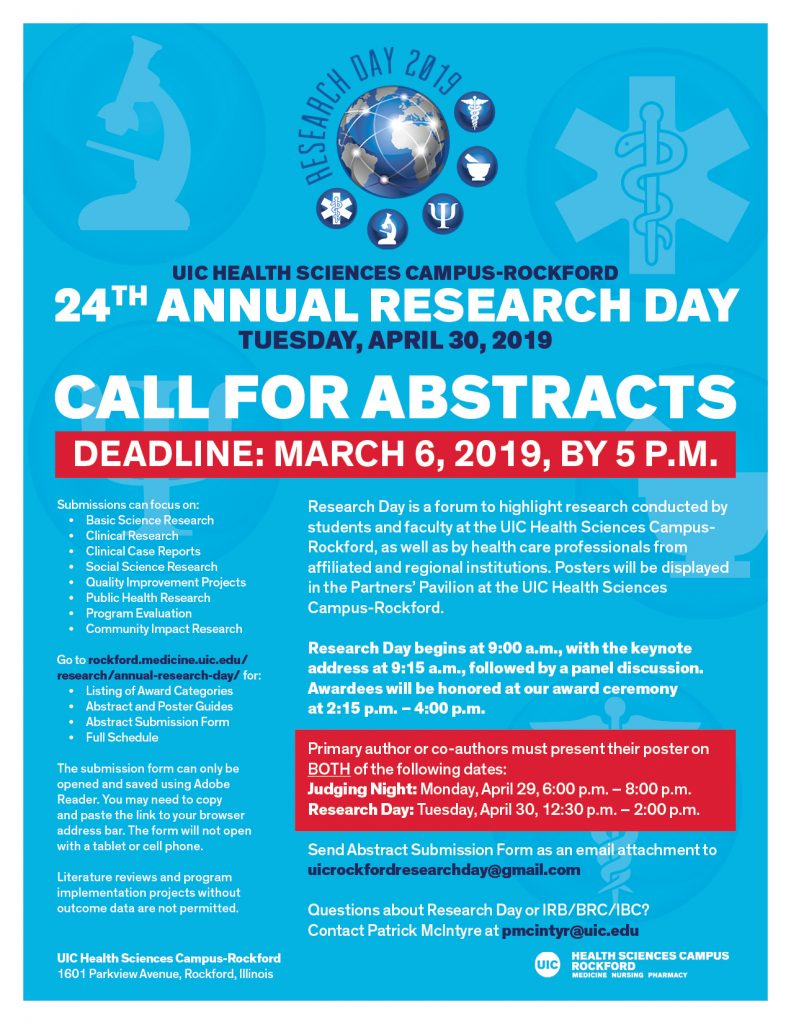 Poster Judging Form Call For Abstracts For Research Day 2019 Rockford Medicine