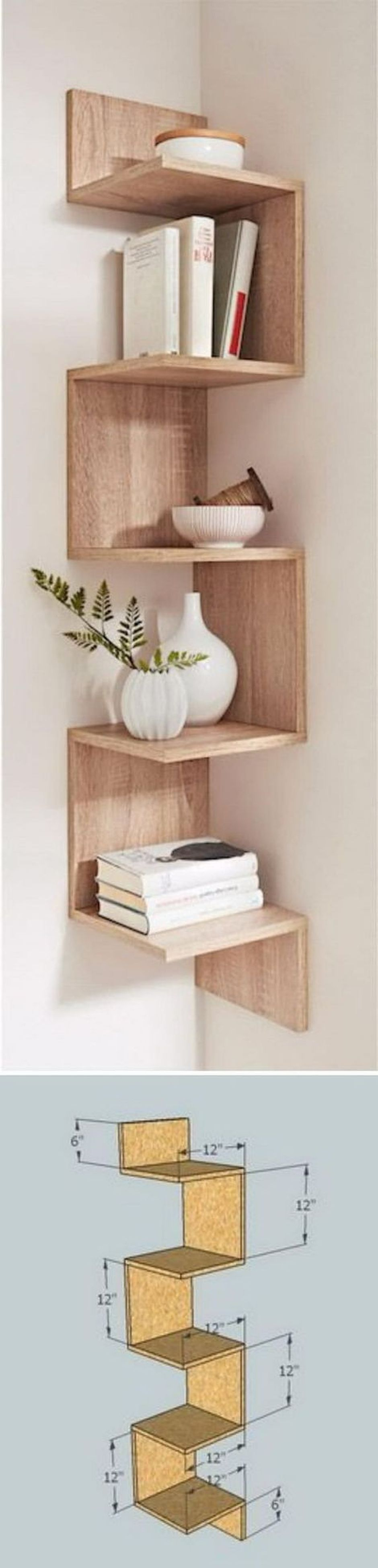 Shelf Design Ideas 50 Attractive Corner Wall Shelves Design Ideas For Living Room