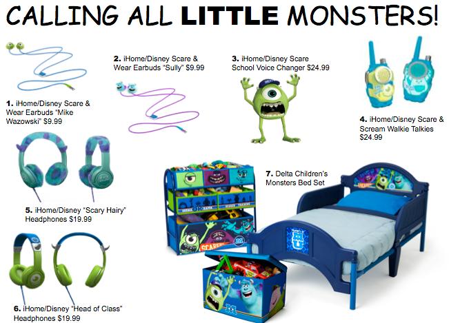 Monsters University Merchandise
