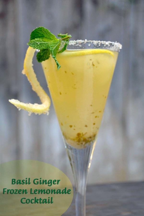 Recipe: Basil Ginger Frozen Lemonade Cocktail