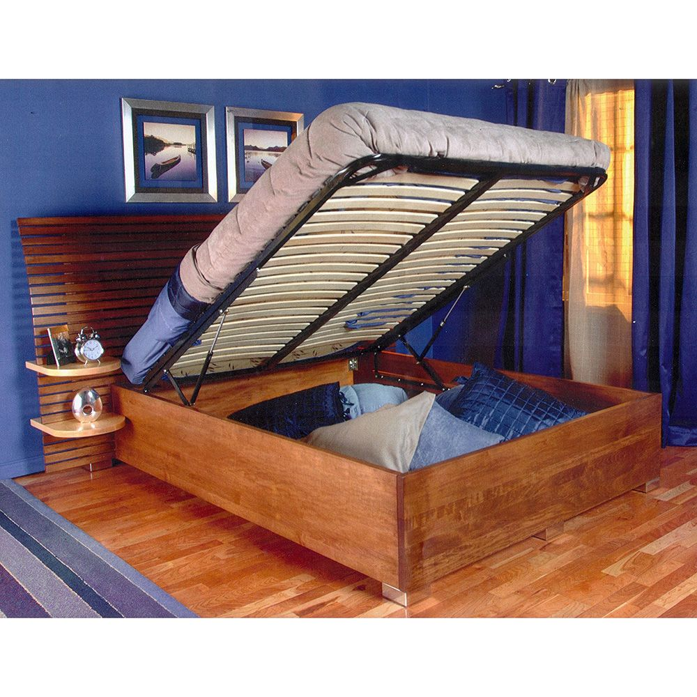 Queen Bed Frame Queen Bed Lift With Platform End Opening