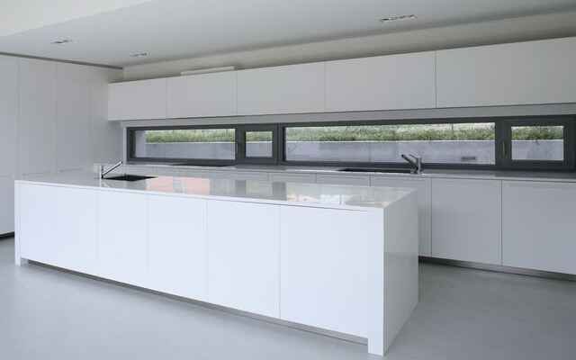 kitchen cabinets modern white island sink backsplash glass tile backsplash slightly glitzier alternative