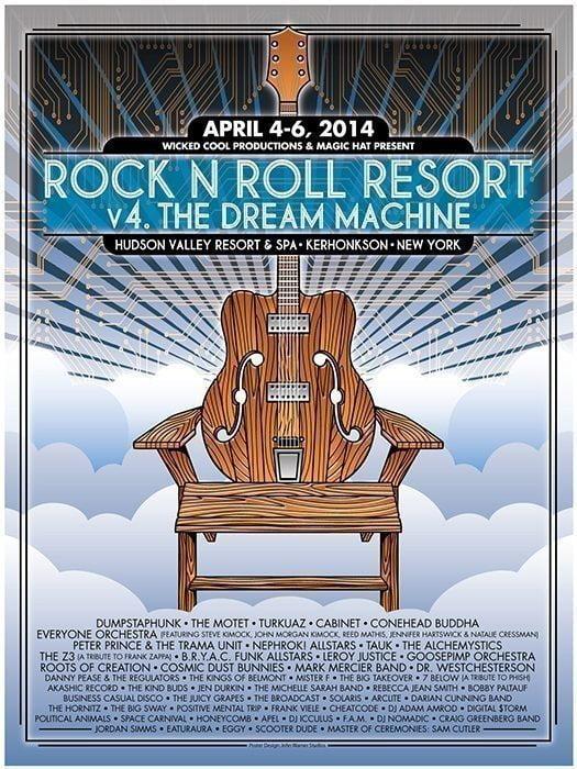 v4 \u201cDream Machine\u201d Event Poster Rock n Roll Resort Shop