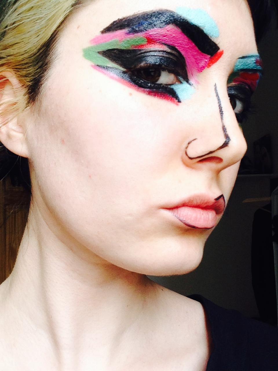 Girl Eyes Looking Up Wallpaper Abstract Art Inspired Makeup Rockstars Pinups