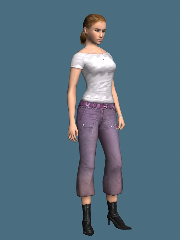 Free 3d Models Young Girl Rigged 3d Model Free | Rockthe3d