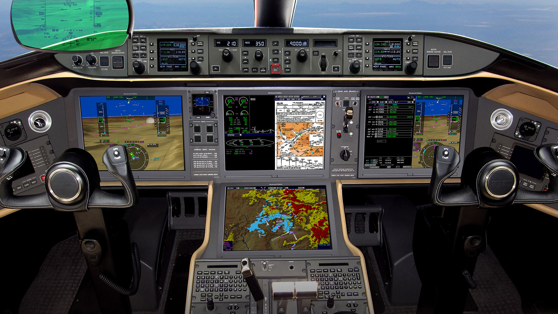 Airplane Avionics Pro Line Fusion Integrated Avionics System For The