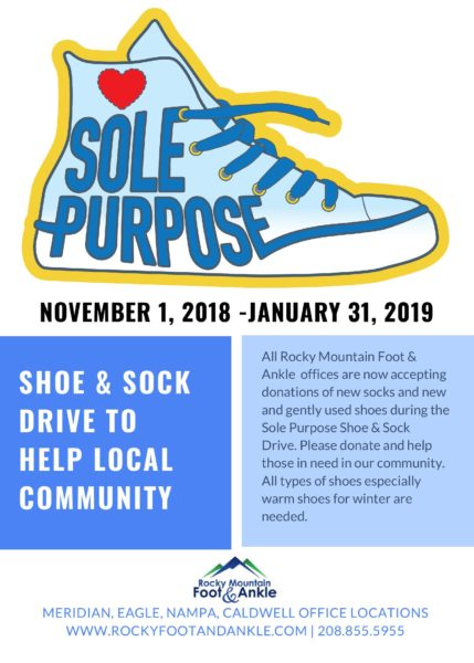 SHOE  SOCK DRIVE TO BENEFIT TREASURE VALLEY