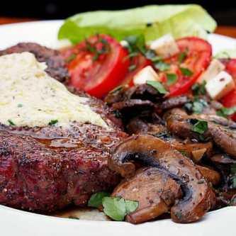 Ribeye Steaks with Boursin Brandy Butter