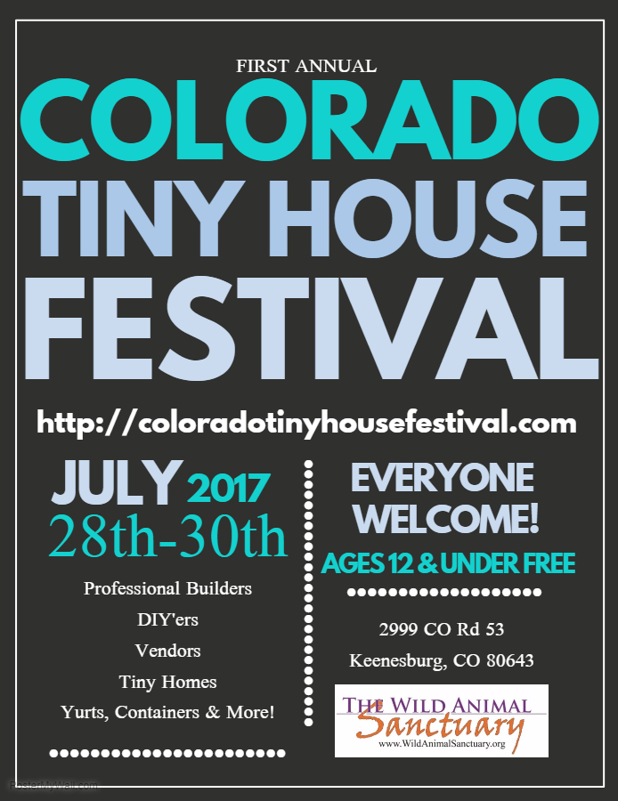 2017 Colorado Tiny House Festival - House Advertisements