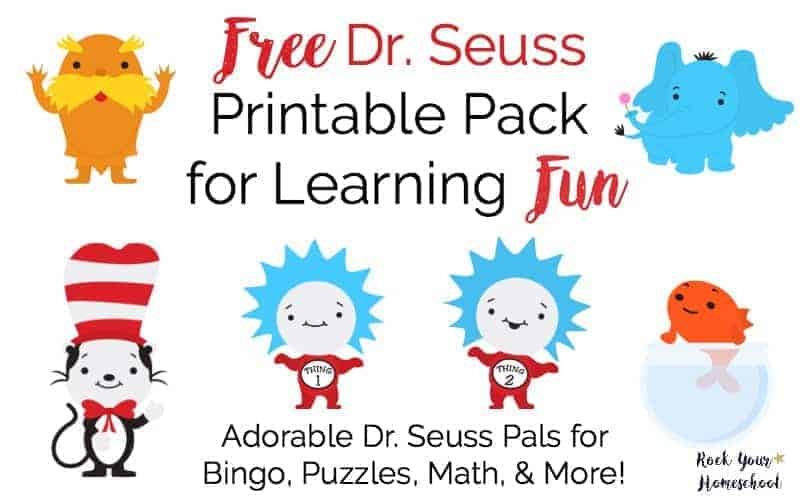 Free Dr Seuss Printable Pack for Learning Fun - Rock Your Homeschool