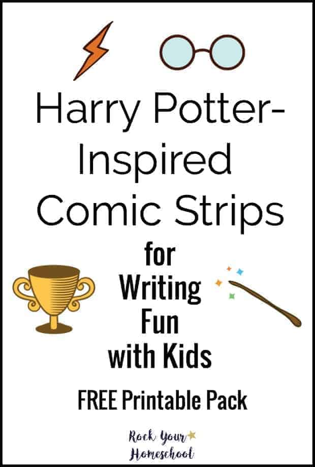 Free Writing Fun for Kids with Harry Potter-Inspired Comic Strips