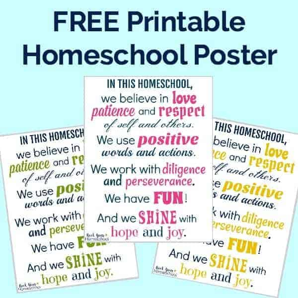 Free Printable Homeschool Poster to Inspire  Motivate - Rock Your