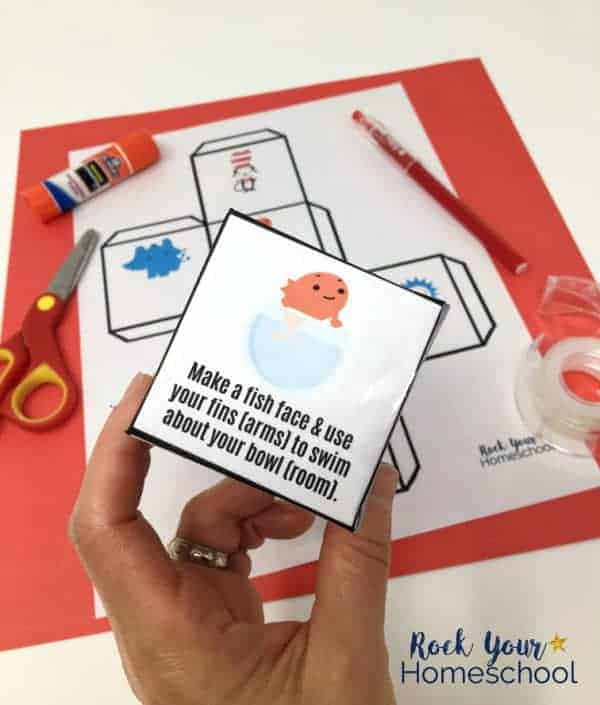 Free Dr Seuss-Inspired Activity Cube for Easy Fun with Kids - Rock