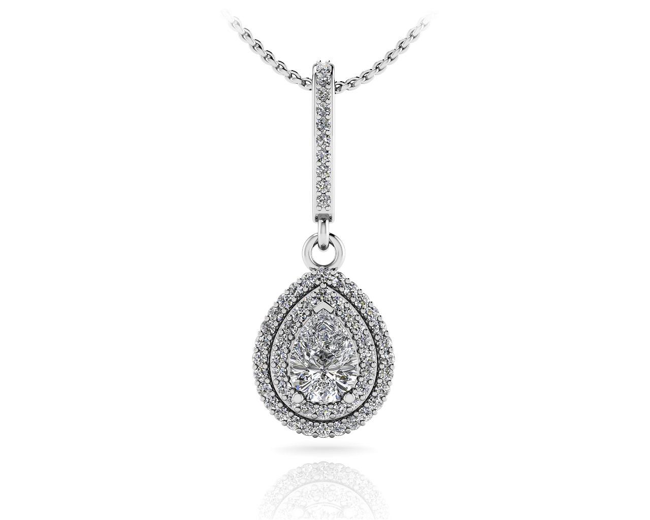 Vintage Teardrop Diamond Pendant Roco39s Jewelry