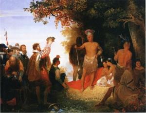 The Coronation of Powhatan, John Gadsby Chapman