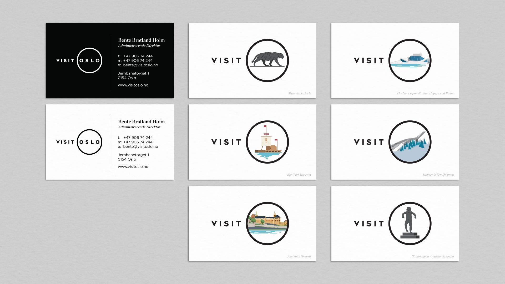 Visit Oslo visual identity