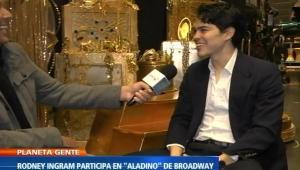 Rodney Ingram's interview on NTN24 for Broadway's Aladdin