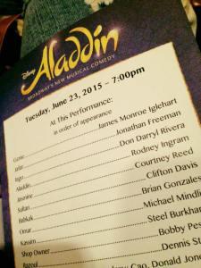 Rodney Ingram debuts as Aladdin June 23-25, 2015 on Broadway!