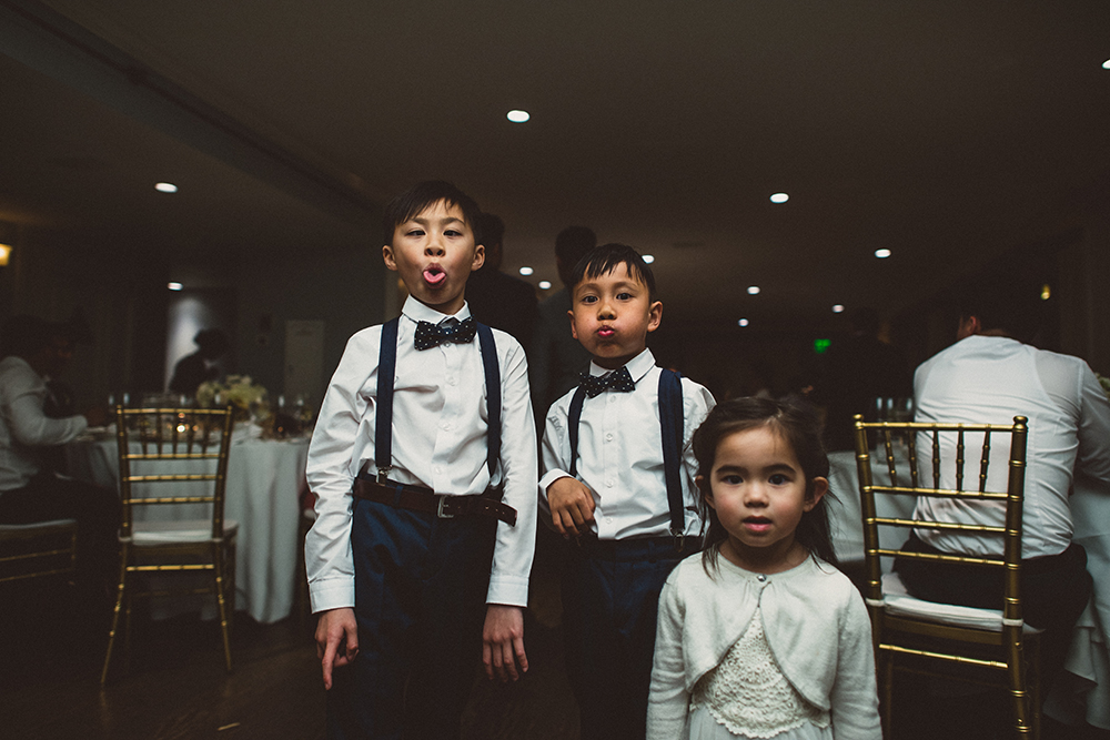 kids funny faces wedding