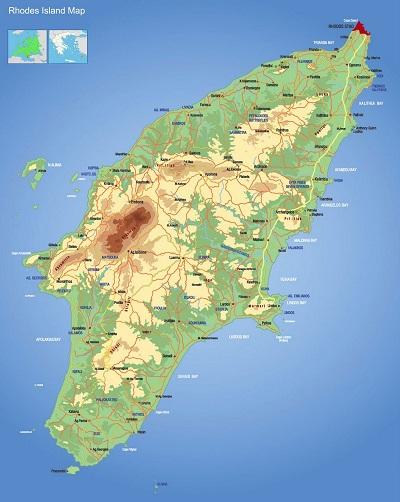 Rhodes Island Map
