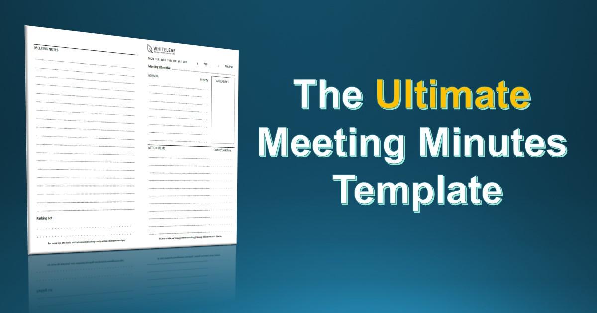 The Simplest Meeting Minutes Template You\u0027ll Find - Rodrigo Caetano