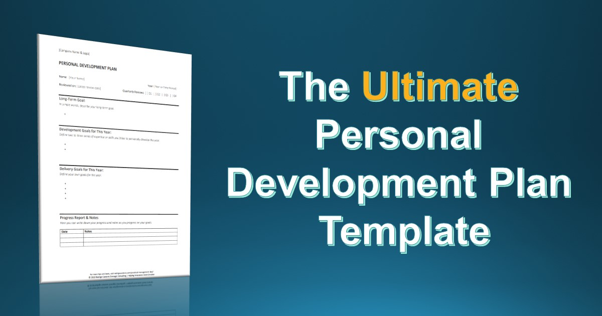 The Simplest Personal Development Plan Template You Will Ever Find - example of a personal development plan sample