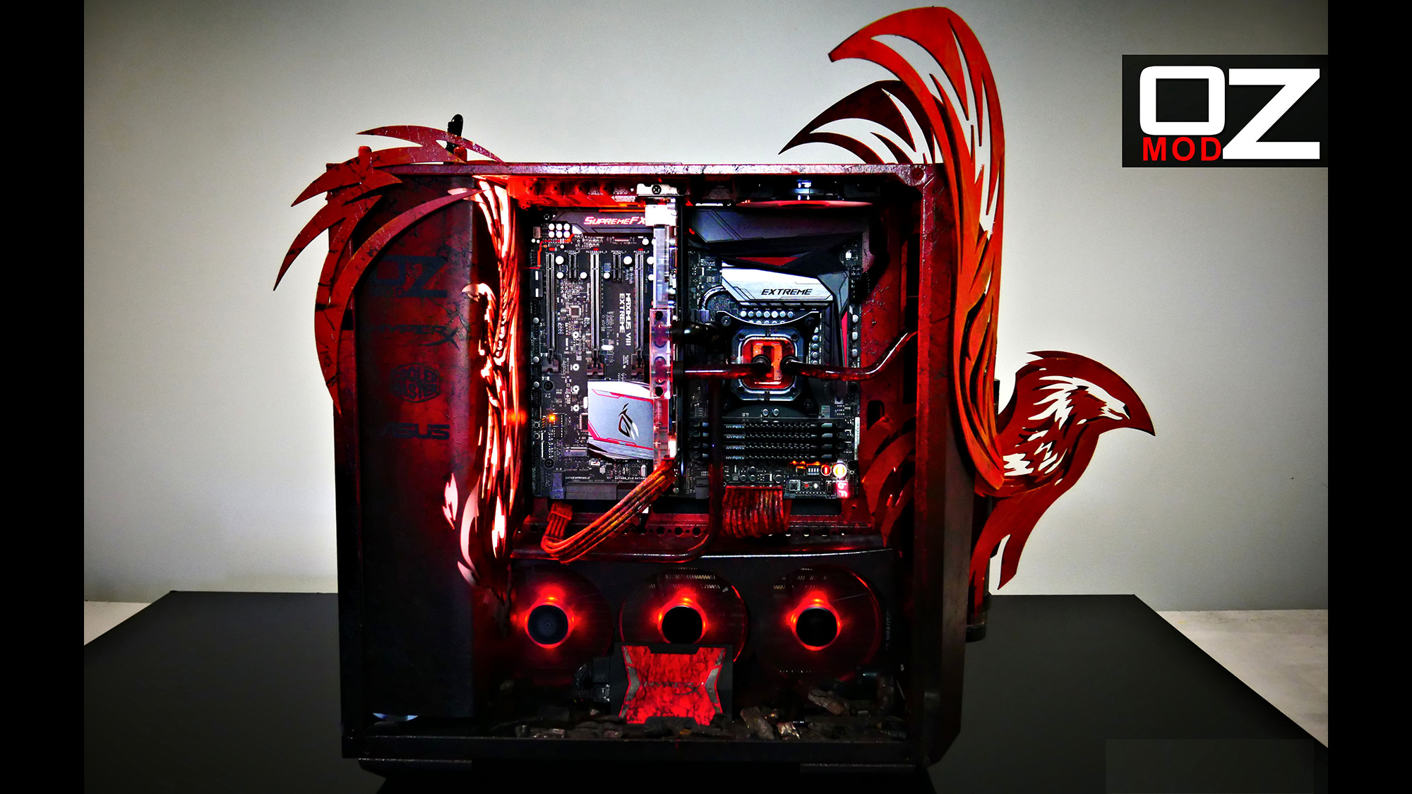Computer For Gamers Beasty Mod: Phoenix By Oz Modz | Rog - Republic Of Gamers