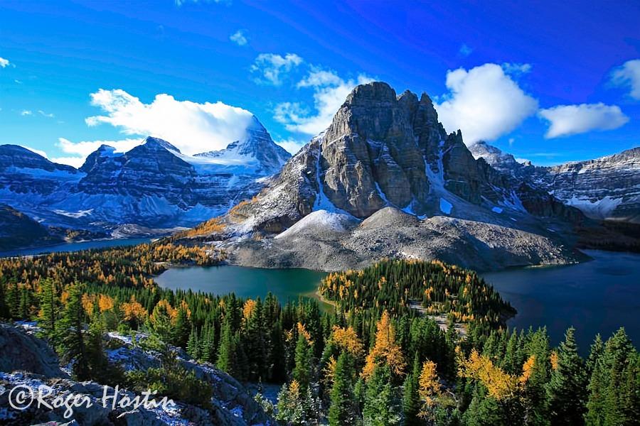 Cool Wallpapers Water Fall Mount Assiniboine And Sunburst Peak Roger Hostin