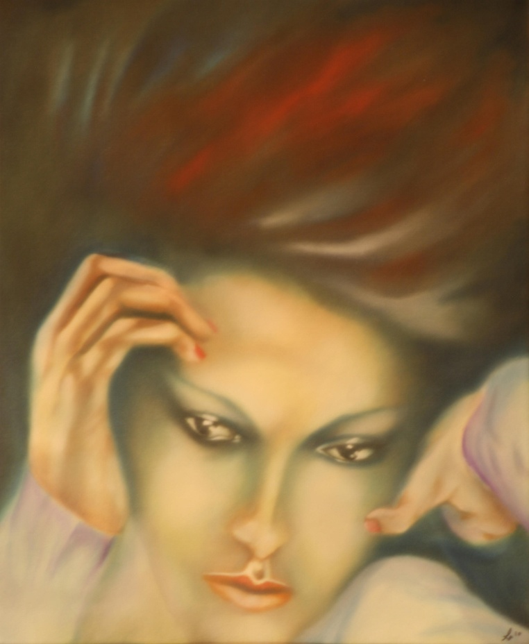 Abducted by Dreams, fine art oil painting