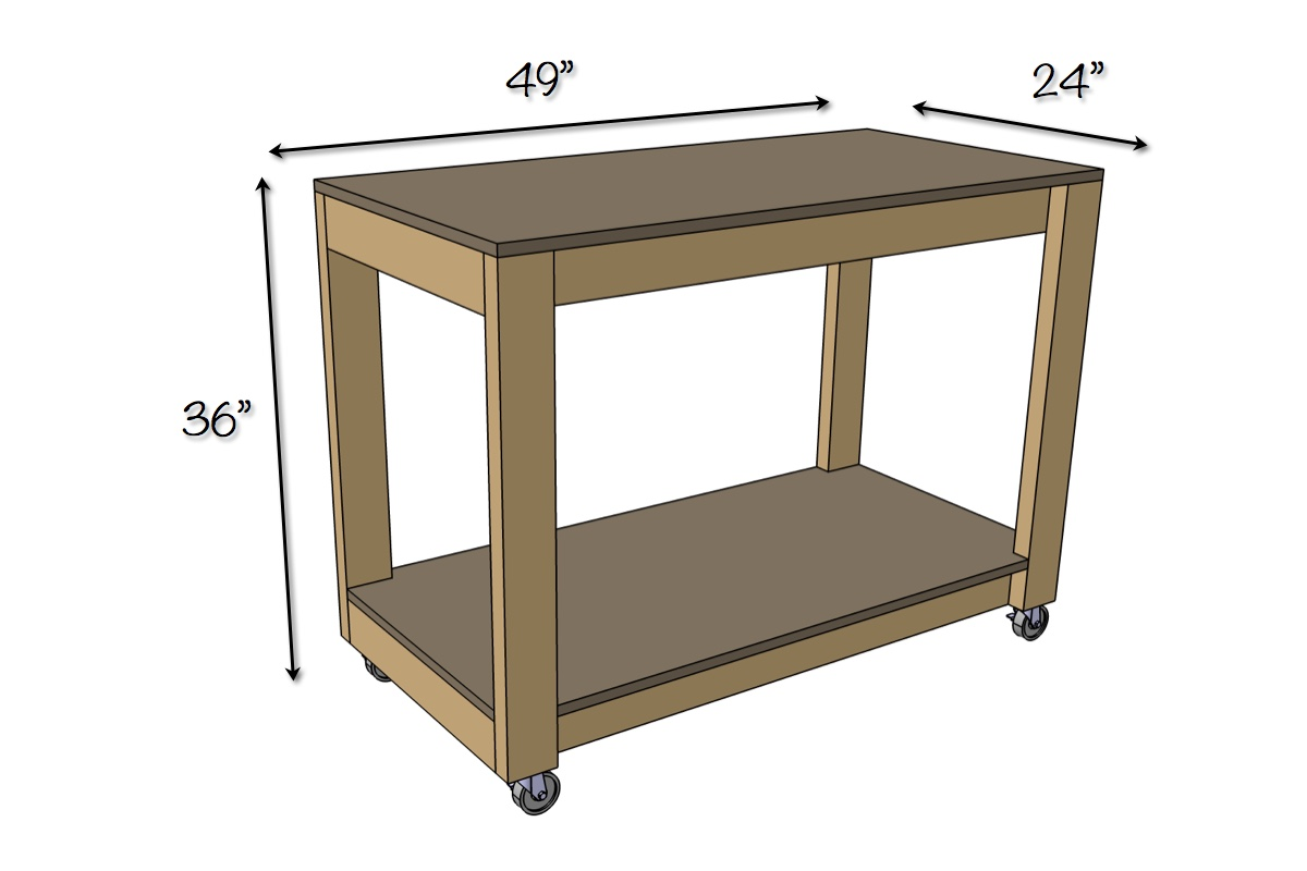 Diy Workbench With Wheels Easy Portable Workbench Plans Rogue Engineer