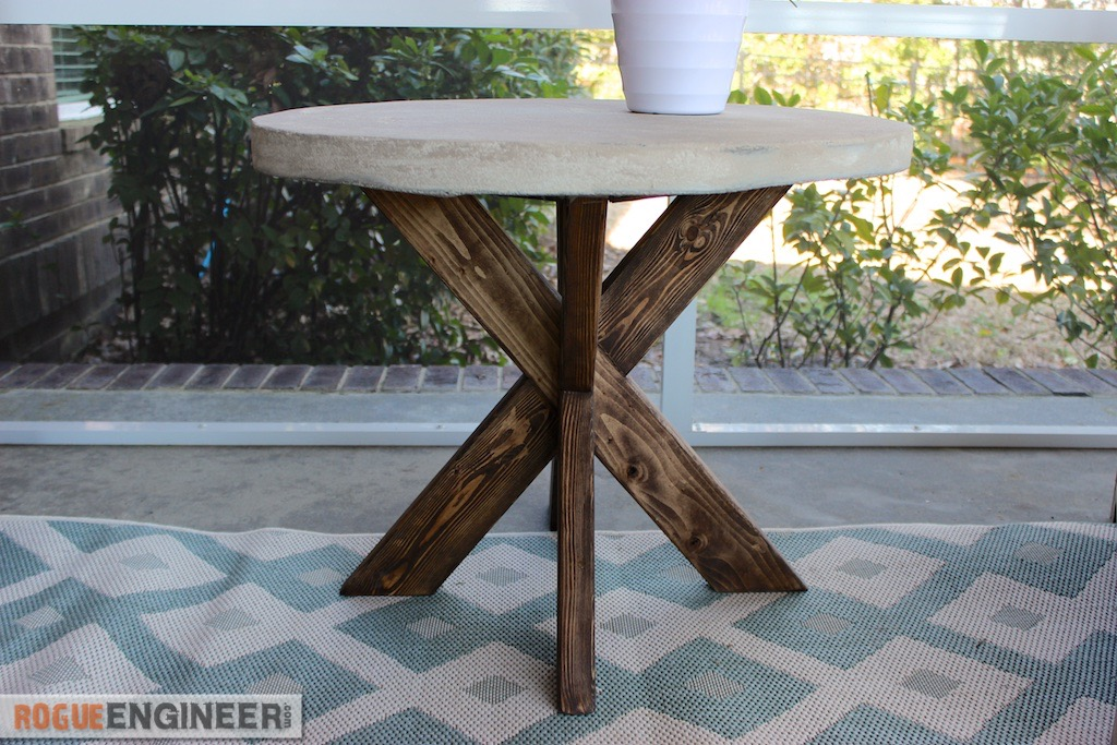 concrete side table. These Were Built With A Slight Modification From The Original Plan, AND That Table Can Be For Under $30! Concrete Side