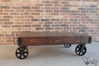 Industrial Cart Coffee Table { Free DIY Plans } Rogue Engineer