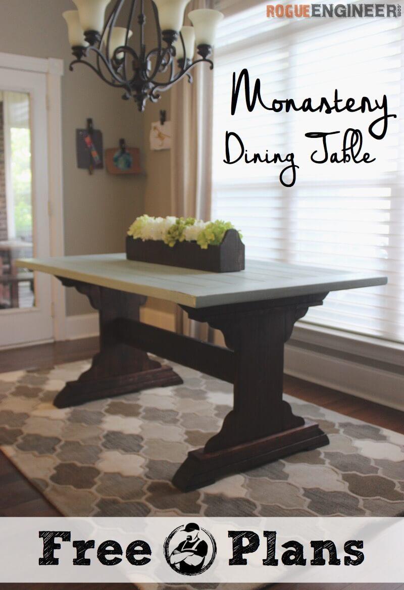 diy monastery dining table plans diy kitchen table plans Monastery Dining Table Free DIY Plans Rogue Engineer