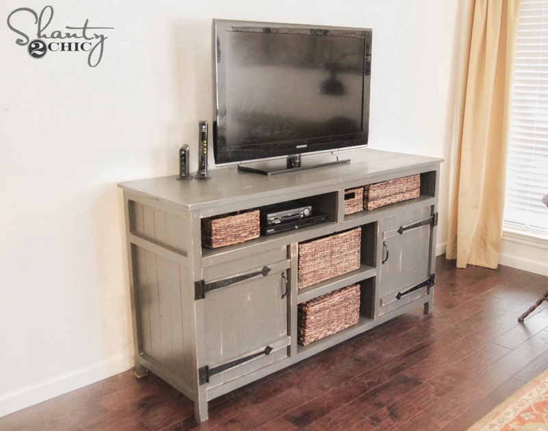Rustic Media Center Free Diy Plans Rogue Engineer