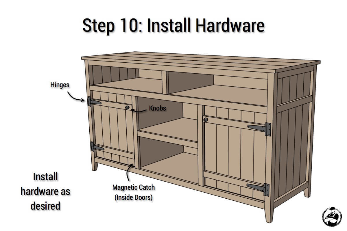 Diy Small Entertainment Center Rustic Media Center Free Diy Plans Rogue Engineer