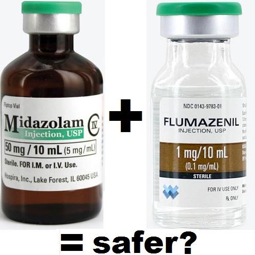 midazolam plus flumazenil = safer qm 2