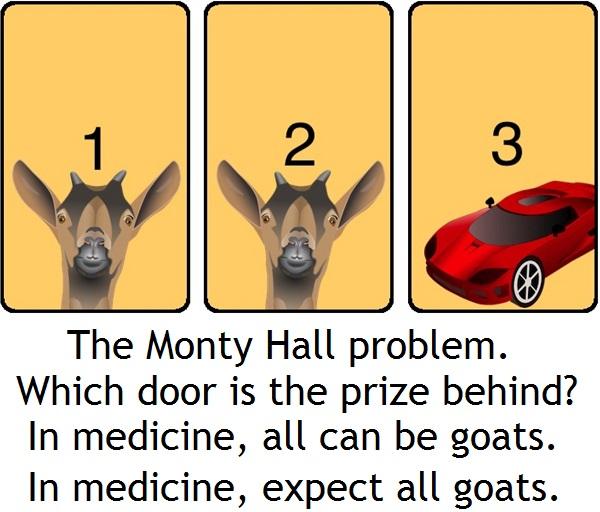 Monty Hall problem vs medicine 1