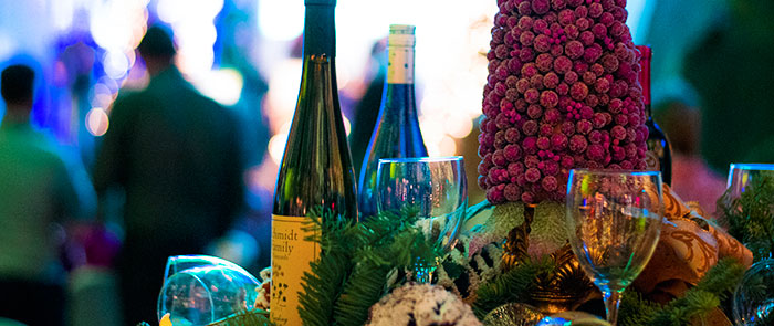 Rogue Winterfest Grape Table Setting