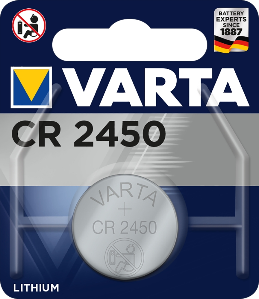 Lithium Knopfzelle 1 Varta 6450 Professional Cr 2450 Lithium Knopfzelle Batterie Blister