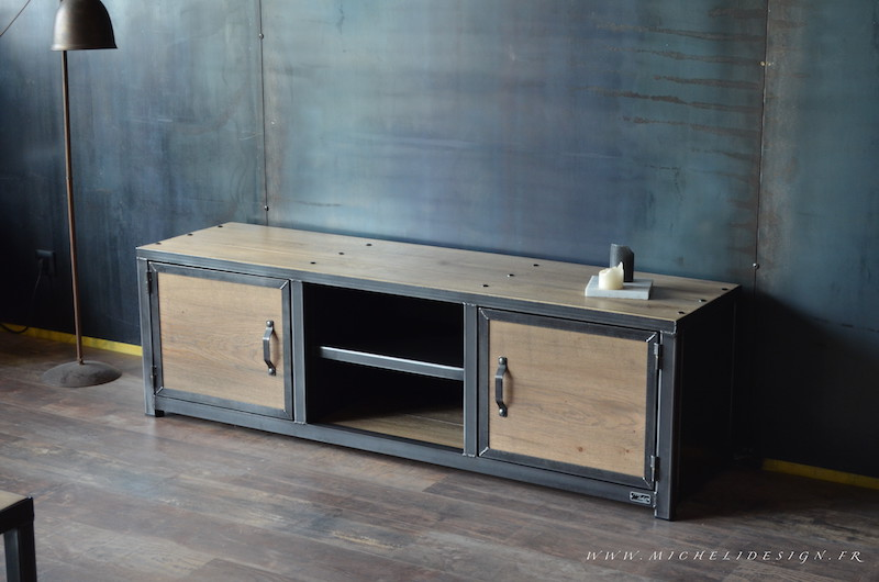 Meuble Tv Industriel Micheli Design Alinea Style Industriel Wi93 | Jornalagora