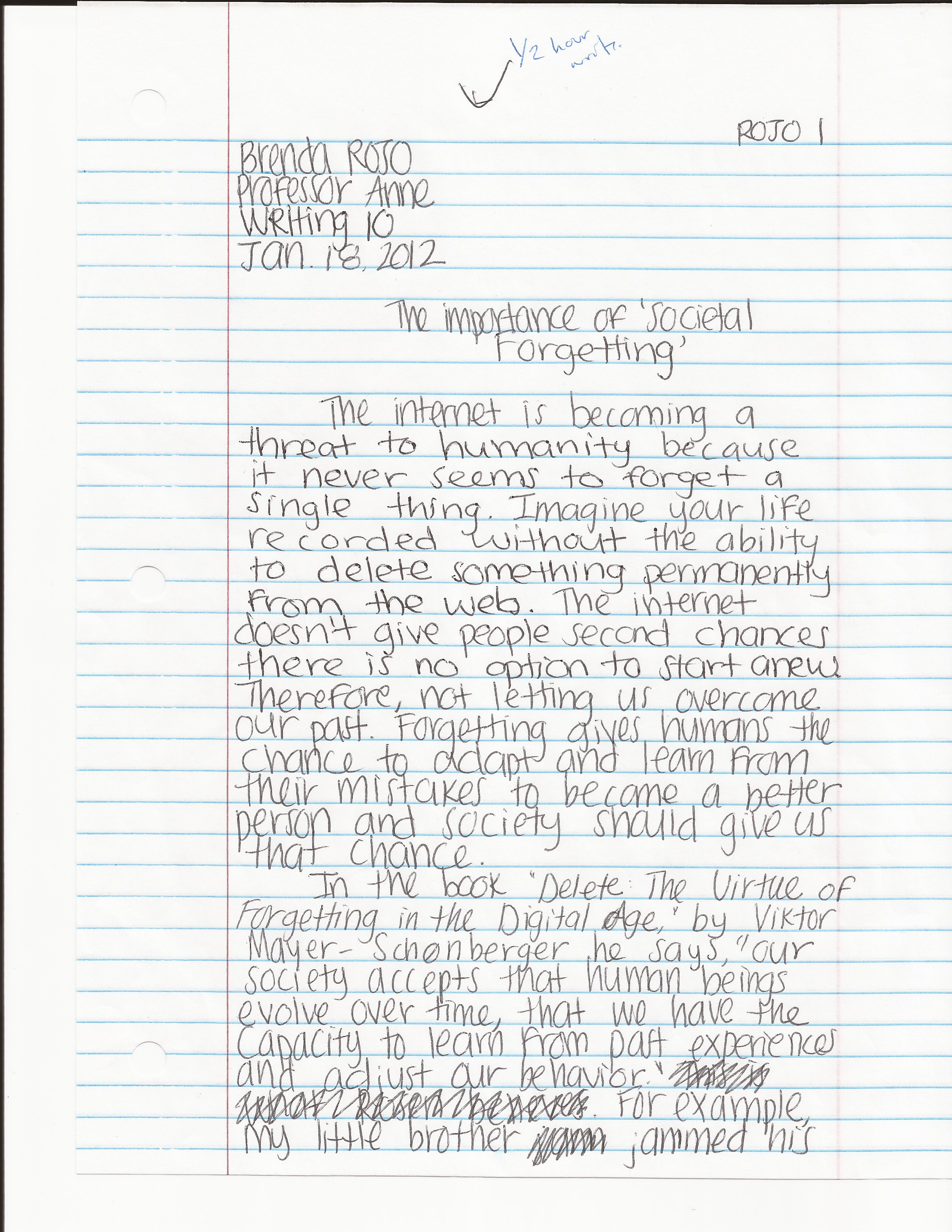 2 page essay examples