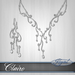 Claire - Jewelry Set - Platinum