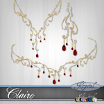 Claire - Princess Set - Gold (MultiJewel)