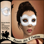Delicate Domino Mask - White