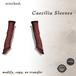 [S] Caecilia Sleeves in Red _ Xmas round WE _3 RP!