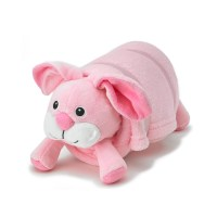 Pink Bunny Pet Plush Pillow with Blanket  Nap Mat Cover ...