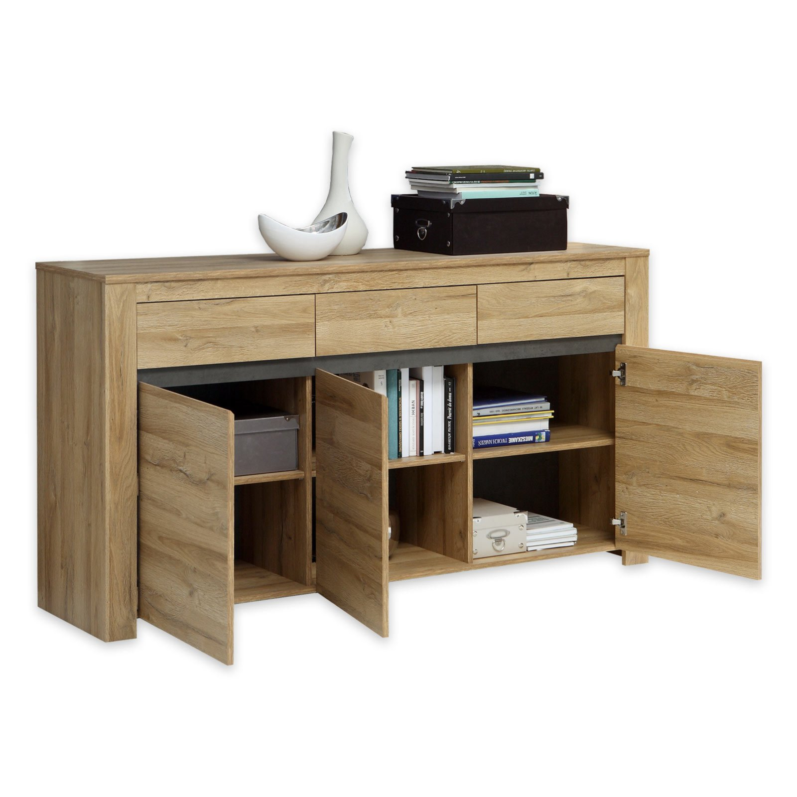 Cheers Sessel Sideboard Cheers Alteiche Betonoptik 166 Cm Breit Ebay
