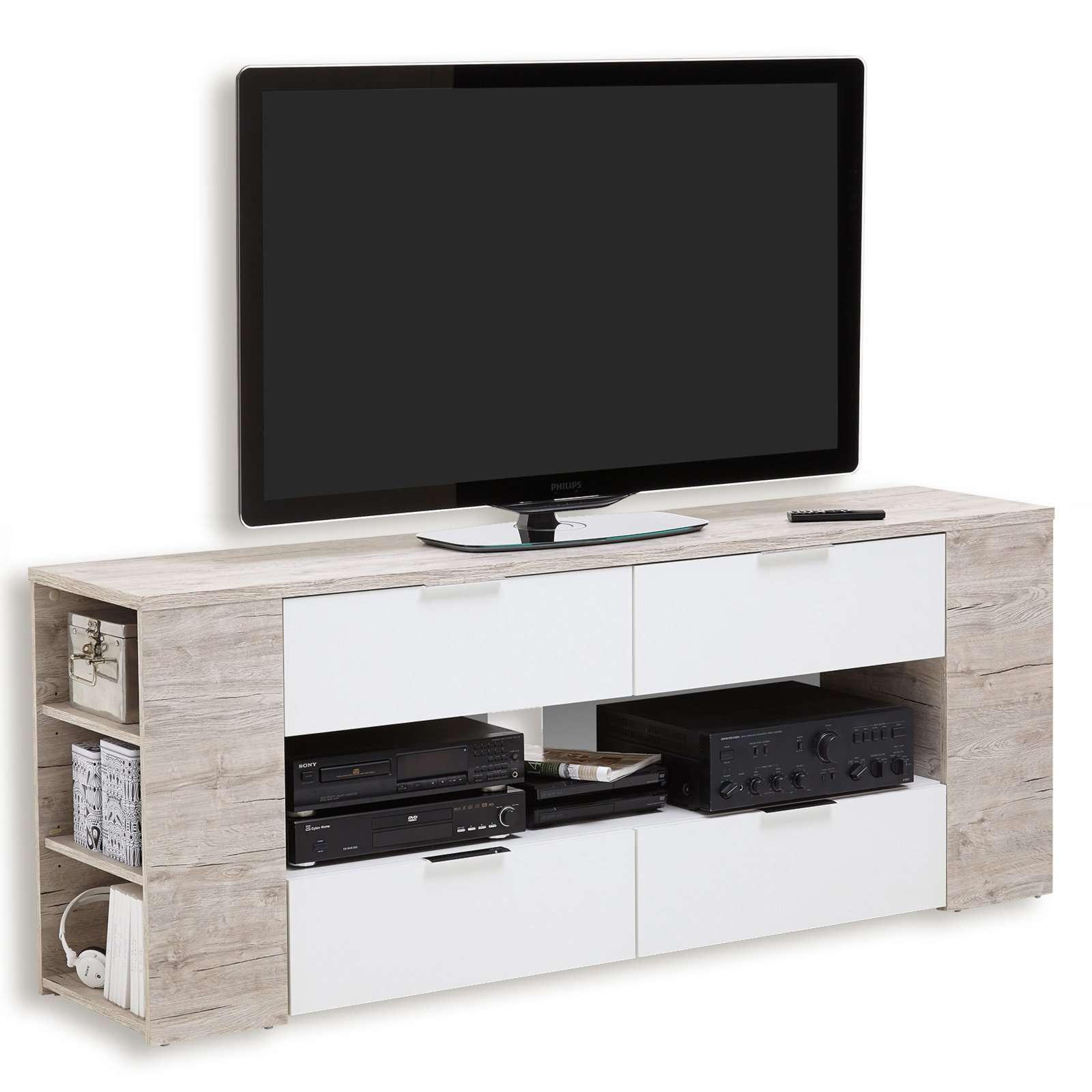 Tv Lowboards Tv Lowboard Tabor 4 Sandeiche Weiß 180 Cm Tv